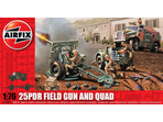 Airfix military 25pdr Field Gun and Quad 1:76