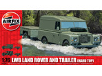 Classic Kit military LWB Land Rover Hard Top and Trailer 1:76