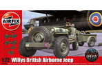 Airfix military Willys Jeep, Trailer a 6PDR Gun (1:72)