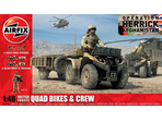 Airfix figurki British Quad Bikes and Crew (1:48)
