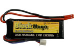 LiPol Black Magic 7.4V 950mAh 35C JST Blade CX2