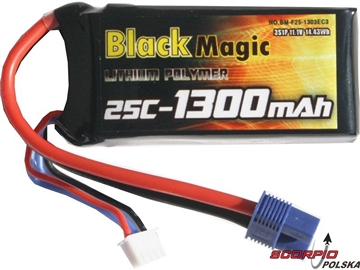 LiPol Black Magic 11.1V 1300mAh 25C EC3